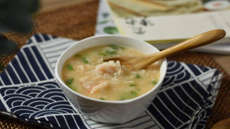 暖胃鲜虾粥,寒冷的冬日来上这么一碗,暖胃又暖心