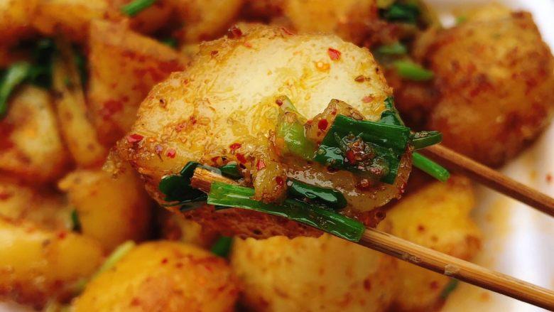 巫山特色小吃-炕洋芋