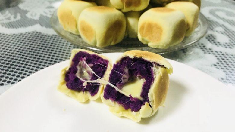 【爆浆芝士】紫薯仙豆糕