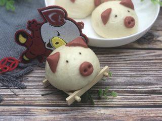 豆沙猪猪包,成品图