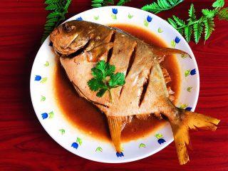 家常红烧金鲳鱼,无比鲜美的家常红烧金鲳鱼可以吃了~