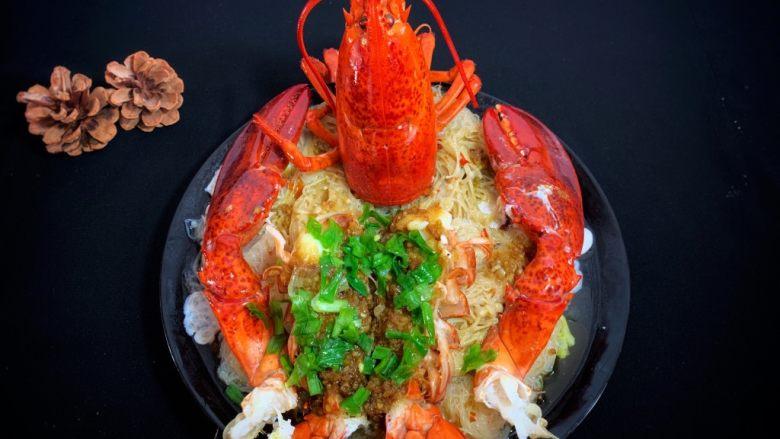 年夜饭—蒜蓉蒸龙虾