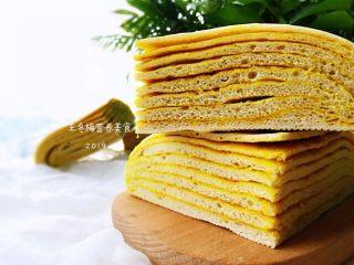 姜黄千层饼,就可以一层一层剥着吃了。