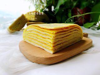 姜黄千层饼,放凉后,切成自己喜欢的块。