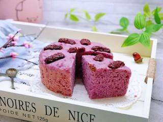 好吃不上火~红枣紫薯发糕,蒸出来的发糕更健康,且不易上火!