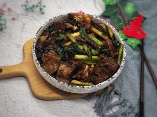 大蒜炒羊肉