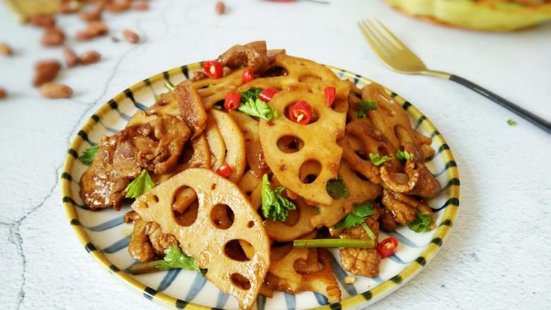 #猪年#莲藕炒肉