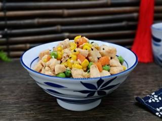 低脂低热彩蔬黑胡椒鸡丁,真的超级好吃。