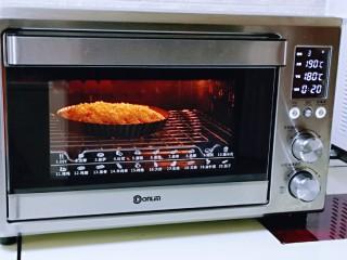 披萨新吃法~奥尔良鸡丁披萨,上管190度,下管180度烤20-25分钟。(具体时间及温度请根据自家烤箱性能另定)