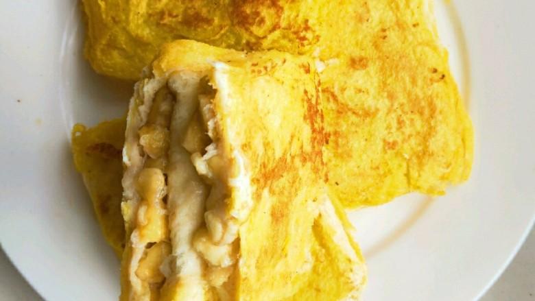 简单好吃又减肥的早餐||宝宝的最爱-----香蕉牛奶煎土司