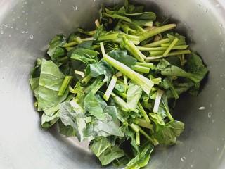 百财水饺,菠菜洗净切小段