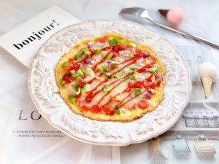 快手早餐—鸡蛋饼披萨