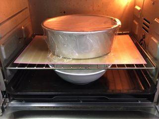 蔓越梅奶酪面包卷,烤箱发酵档,底部放一碗热水,发酵60分钟,中间更换一次热水。