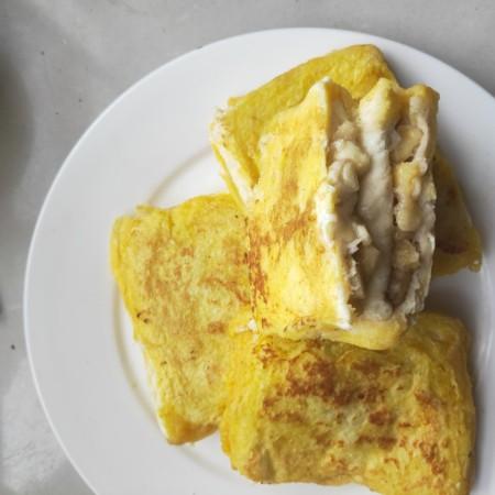 十分钟就能做好的早餐-----减肥又好吃的香蕉牛奶煎土司