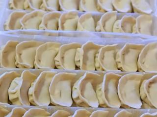 #猪里脊#酸菜猪肉馅饺子,依次包好饺子,吃不完可以速冻!