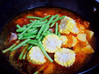 东北乱炖,加入豆角和玉米