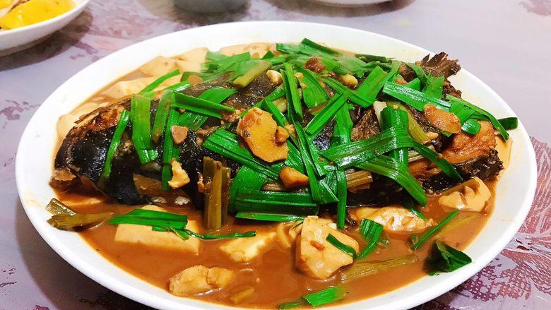 豆瓣酱千岛湖鱼头豆腐
