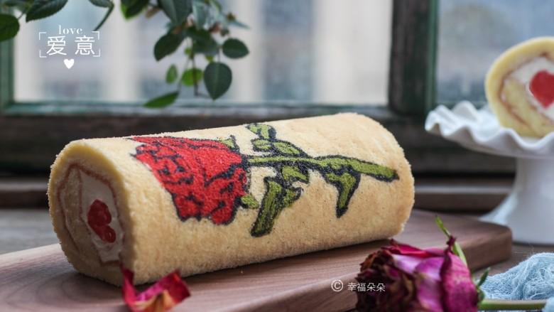 彩绘玫瑰蛋糕卷
