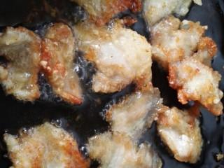 #猪里脊#锅包肉,炸致两面金黄即可
