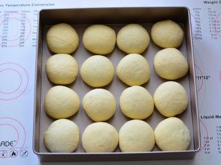 紫米小餐包,依次把所有的面团全部包入紫米饭,放在烤箱里进行发酵