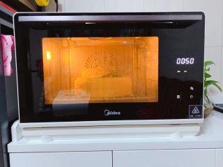 糯米蒸排骨,接着关上蒸汽烤箱的箱门,选择蒸汽烤箱营养菜单的F-1蒸米饭模式,时间为60分钟(时长根据实际情况设置)
