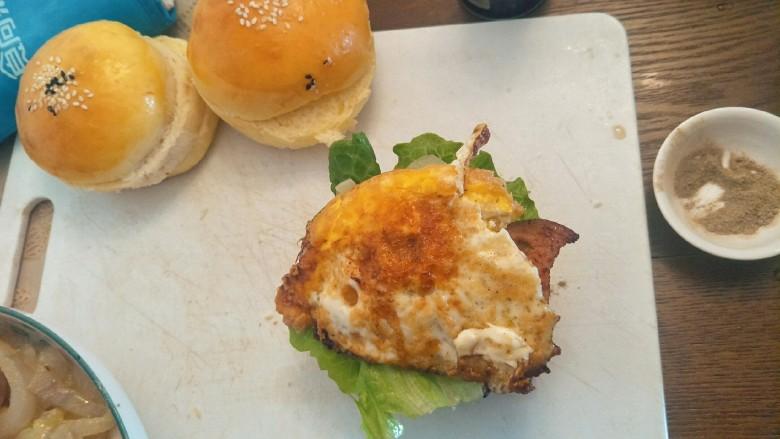 布里欧修黄油汉堡包🍔,加入黄金简单