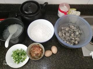 肉虾&蚝烙煎,全部材料