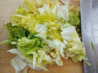 凉拌生菜,切小段