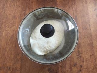 #猪五花肉# 猪肉韭菜虾仁水饺,在调馅之前我们把面和好,面不妨多和一些,面要稍微柔软些。 和面时水要分次分量往里加,先把它合成絮状,然后再把面和光滑,盖上锅盖或者保鲜膜静置30分钟。