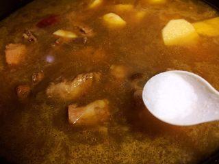 #猪年#排骨土豆炖豆角,放盐