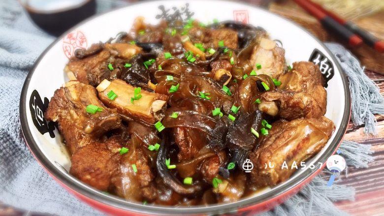 #猪年#排骨粉条炖蘑菇