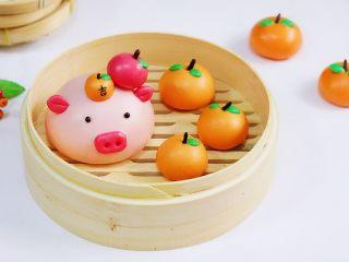 吉祥如意小猪馒头,吉祥如意猪猪年,诸事顺利!