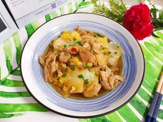 白菜腐皮炖五花肉,成品图