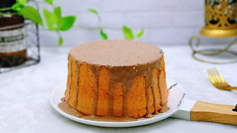简单易学~巧克力淋面蛋糕