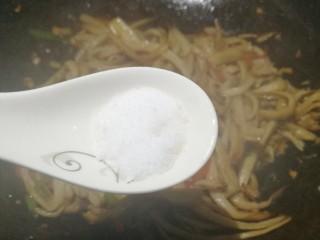 低脂低卡的手撕杏鲍菇,一勺盐。