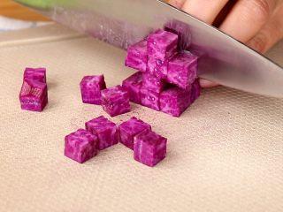紫薯银耳糊/羹,紫薯切丁