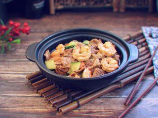 虾仁笃面筋(天津菜)
