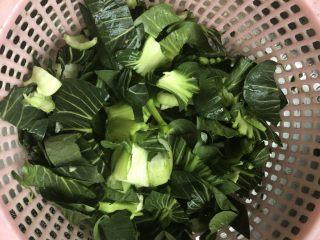 香菇炒青菜,适量大青菜洗净切成小块。