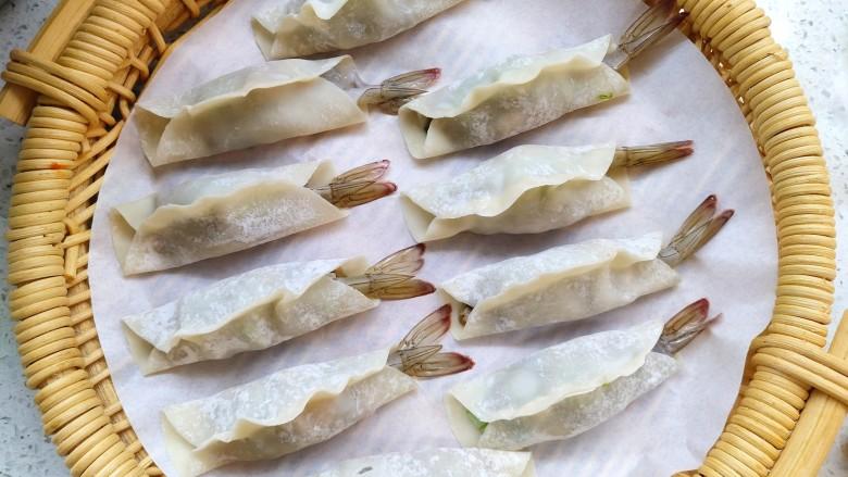 猪肉大虾煎饺,包好的饺子