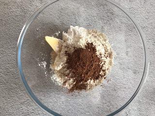 可可酥皮泡芙,加入可可粉