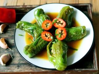 虎皮青椒酿肉,成品图
