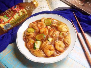 虾仁炒面筋