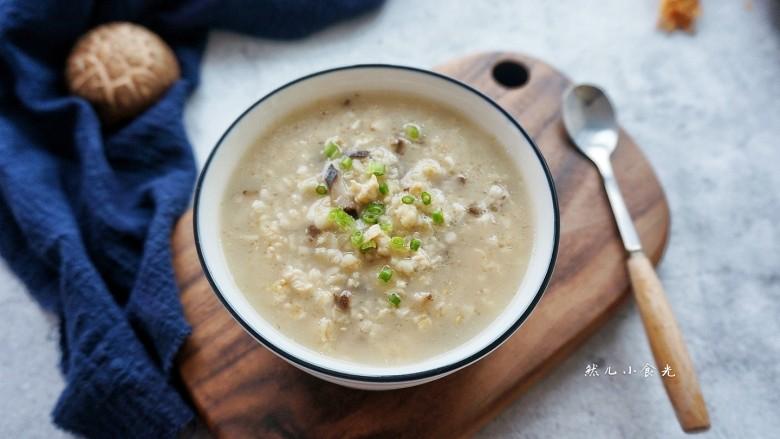 香菇鸡肉燕麦粥