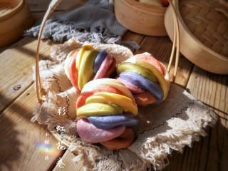 彩虹花卷,成品。