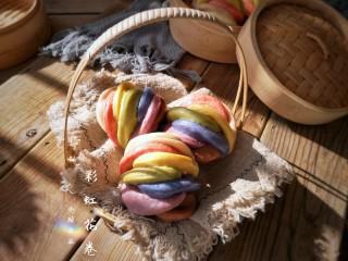 彩虹花卷,出锅。