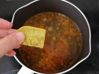 香辣咖喱火锅,然后放入咖喱。