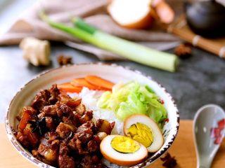 #猪五花#卤肉饭,成品1