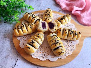 千层紫薯酥,成品