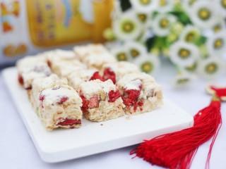 超好吃的人气草莓雪花酥,超好吃的草莓雪花酥就做好啦~