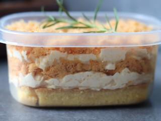 咸蛋黄肉松盒子蛋糕,成品图